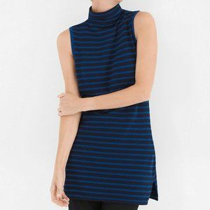 Chicos Zenergy Turtleneck Sleeveless Tunic Top
